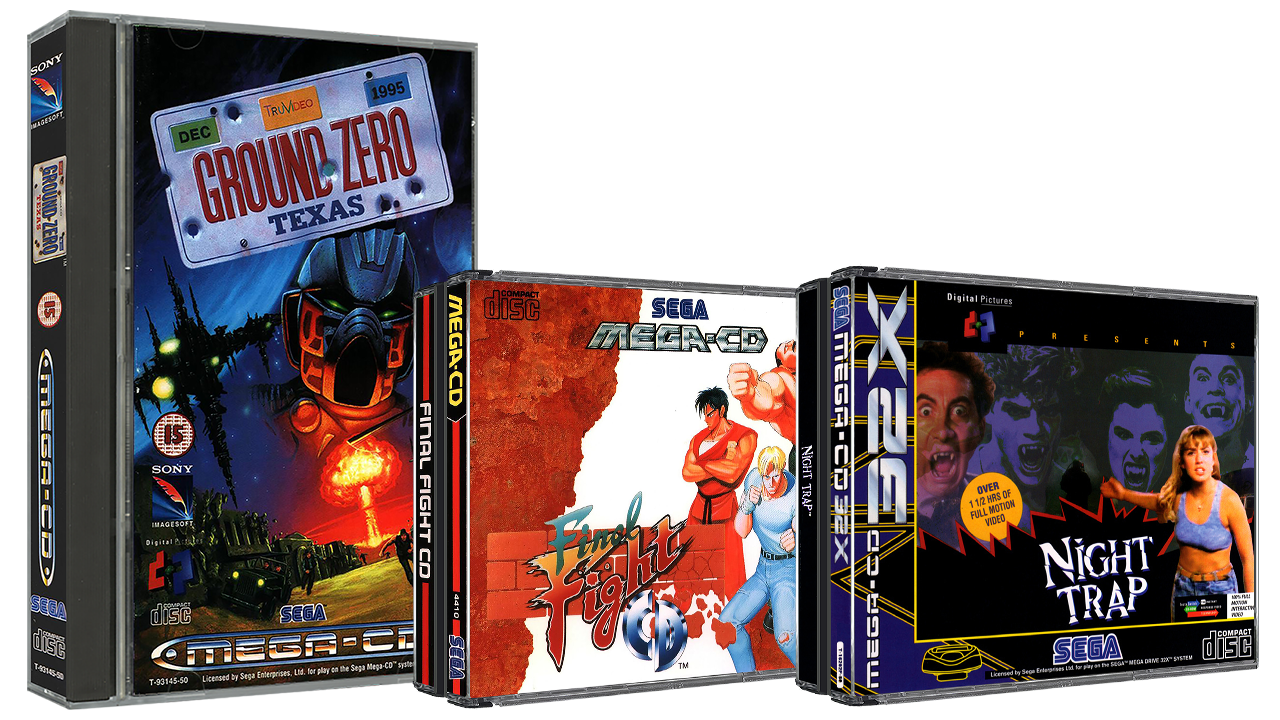 Sega Mega CD 3D Boxes Pack (Europe)