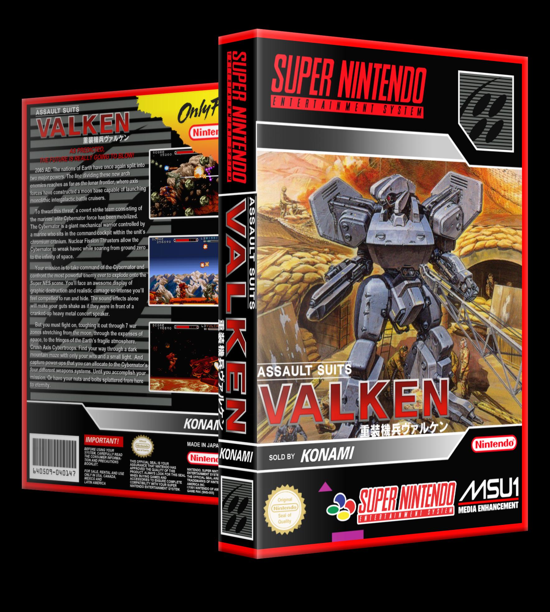 SNES - MSU-1 Fan 3D Boxes (Dual Cover).