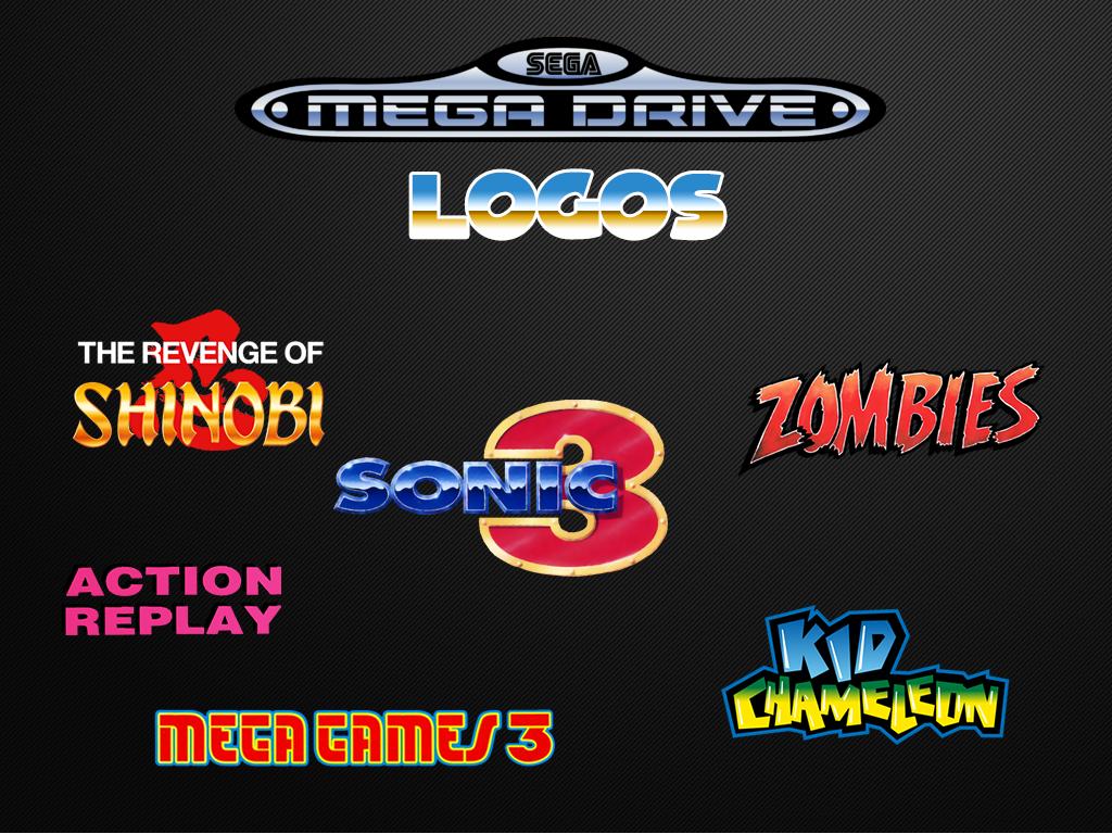 Sega Mega Drive Logos Europe Artwork Emumovies