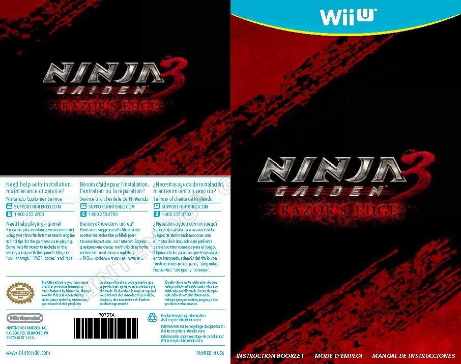 Nintendo Wii U Game Manuals Pack