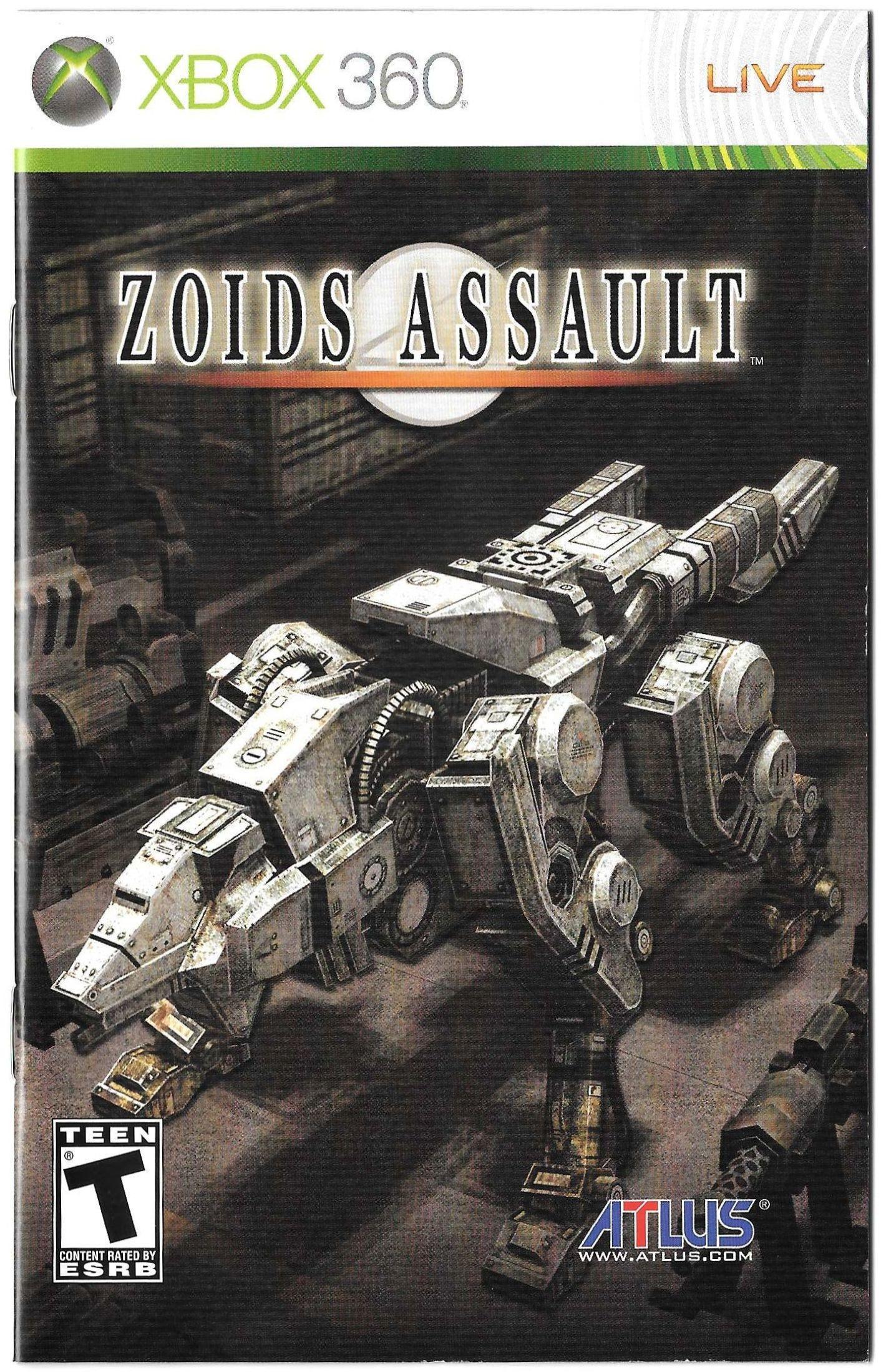 Zoids Assault manual (Xbox 360)
