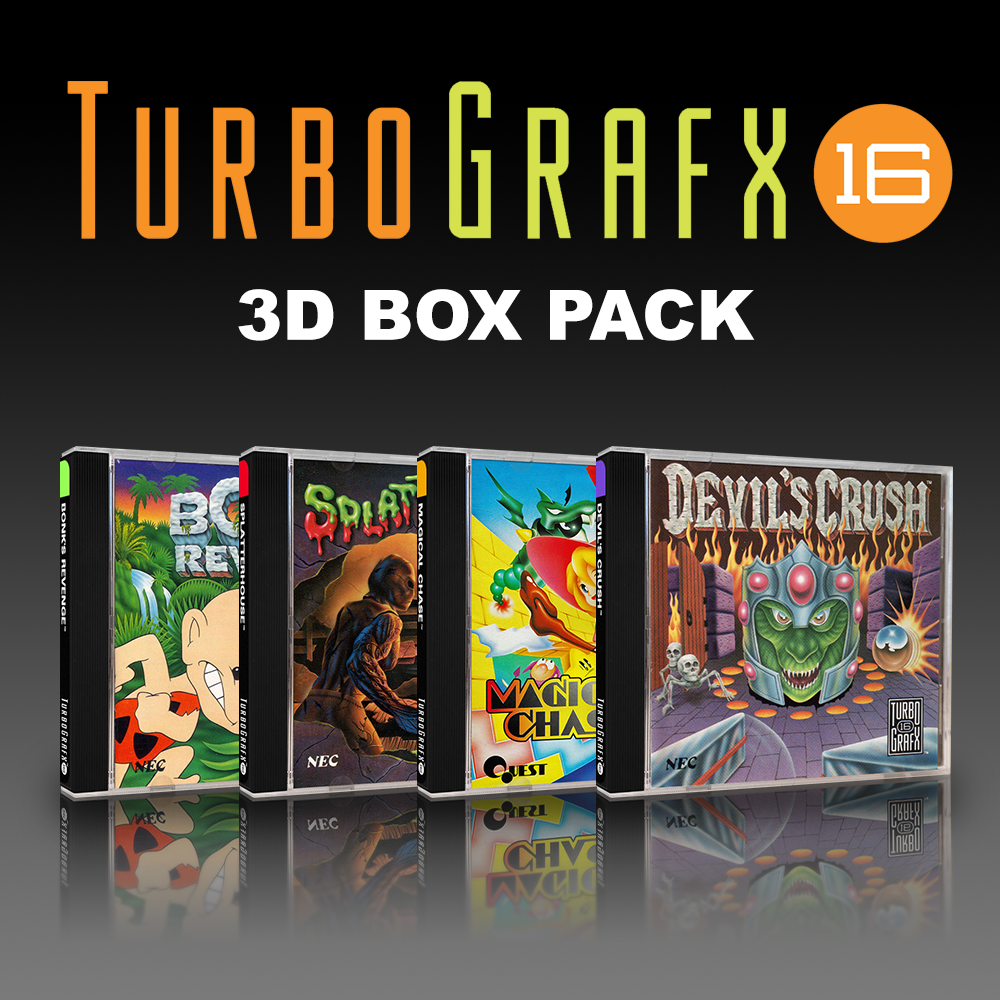 NEC TurboGrafx-16 3D Boxes Pack