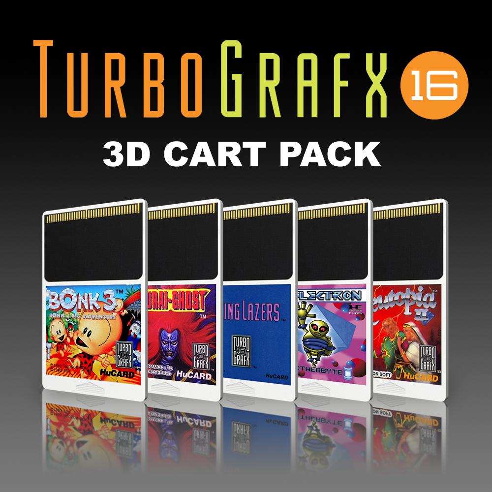NEC TurboGrafx-16 3D Cartridges Pack