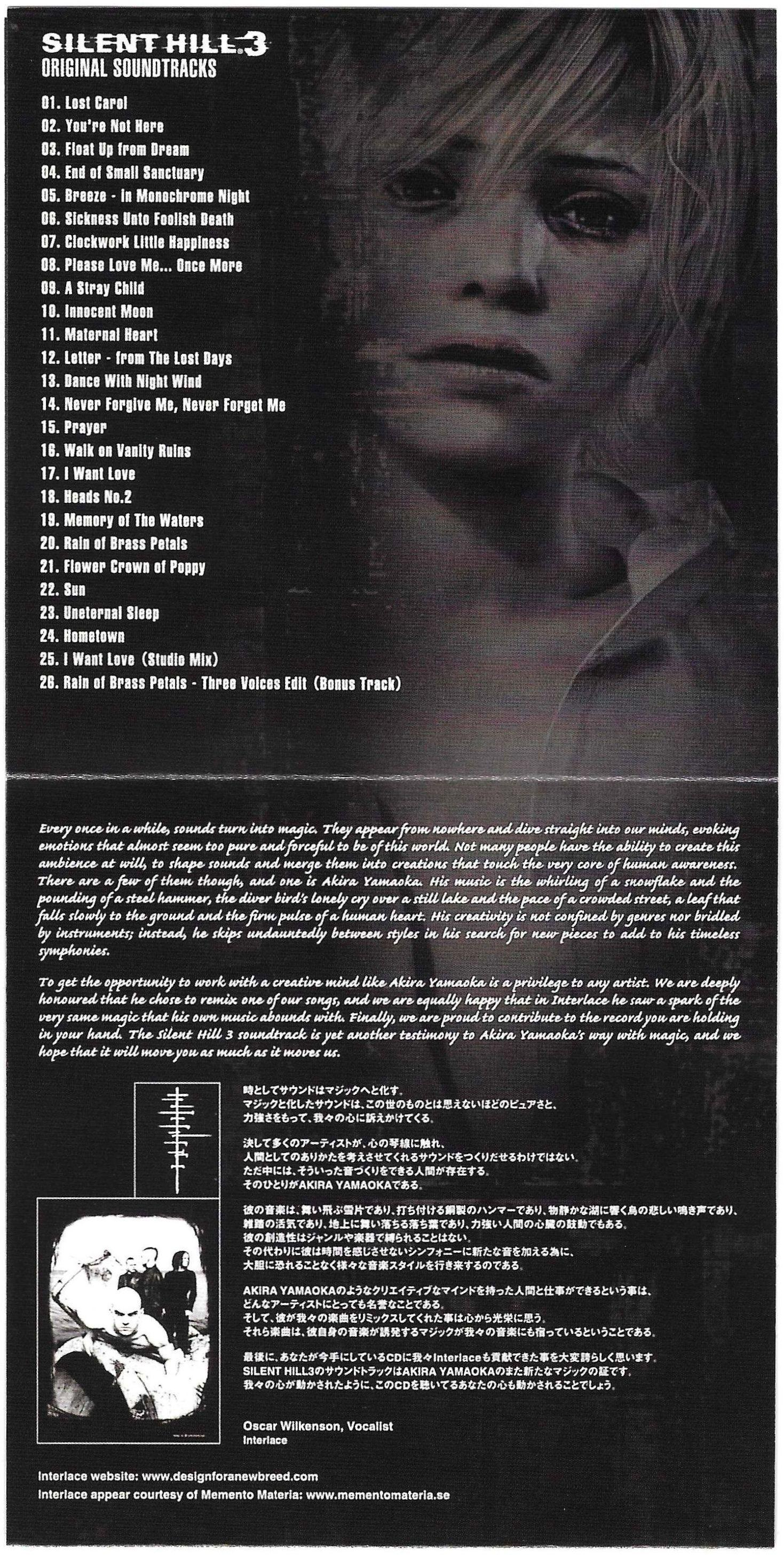 Silent Hill 3 Original Soundtrack Game Music Submissions Emumovies