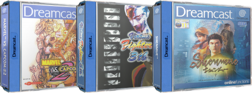 Sega Dreamcast 3D Box Pack - Europe (255) (2 Versions)