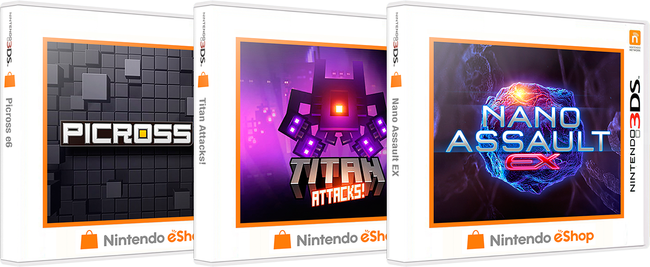 Nintendo 3DS eShop 3D Boxes Pack (550)