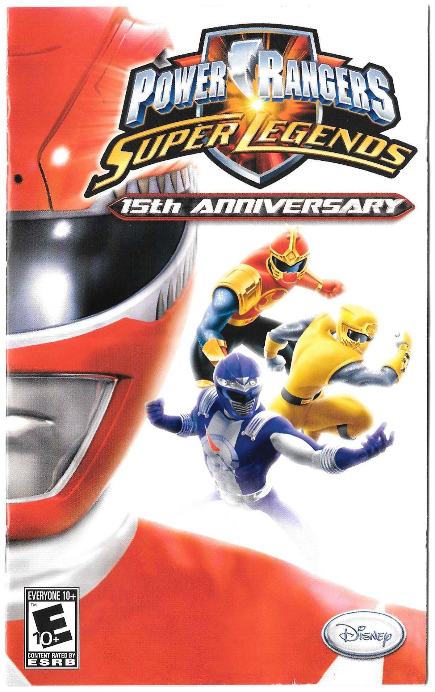Power Rangers: Super Legends manual (PS2)