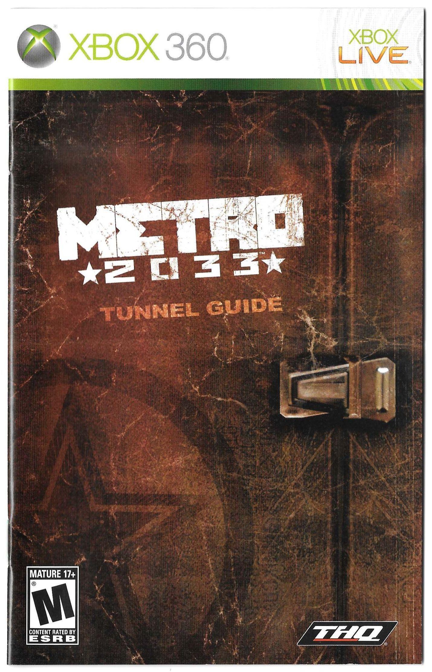 Metro 2033 manual (XBOX 360)