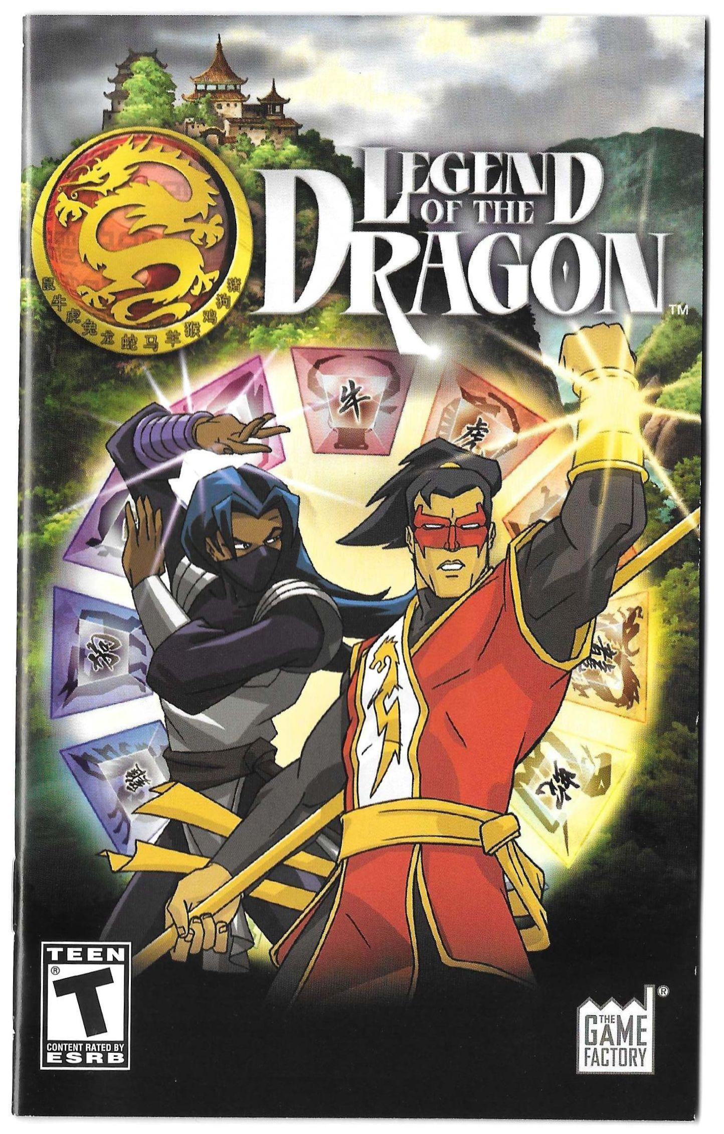 Legend of the Dragon manual (PS2)