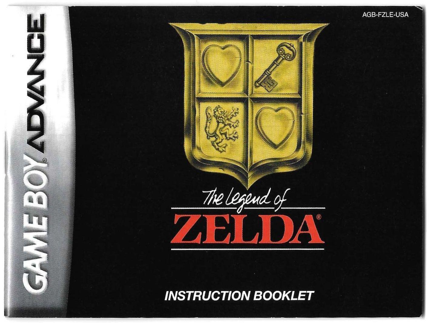 NES Classics The Legend of Zelda manual (GBA)