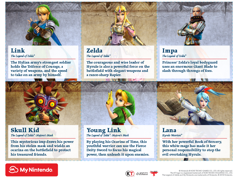 Printable - Hyrule Warriors: Definitive Edition characters A