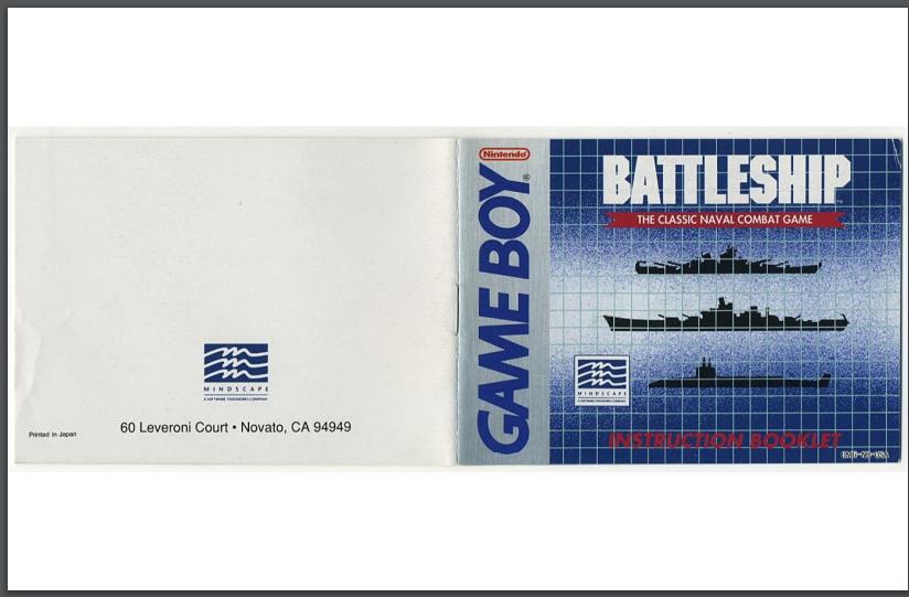 PDF Battleship manual gameboy