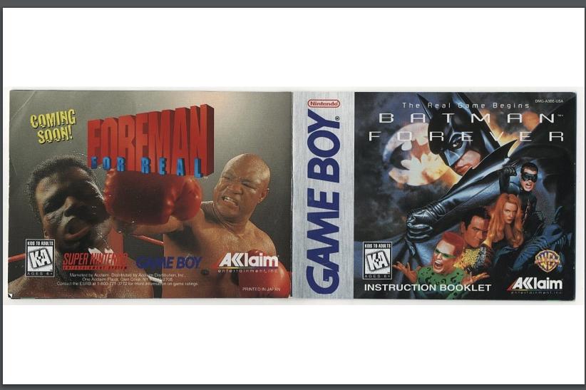 PDF Batman Forever manual gameboy