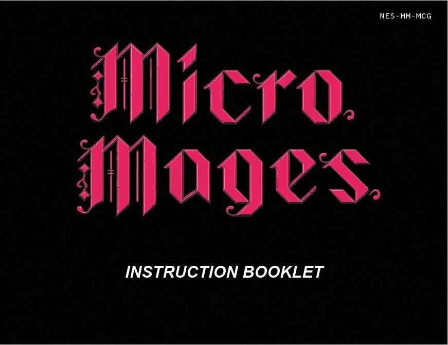 Micro Mage's Instruction Booklet